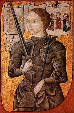 Joan of Arc burnt to death