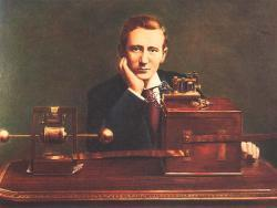 Marconi sends 1st transatlantic wireless message