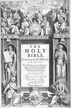 1st English Translation of the Bible printed