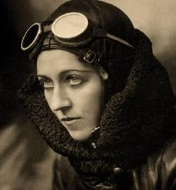 Amy Johnson begins her flight upon Gypsy Moth