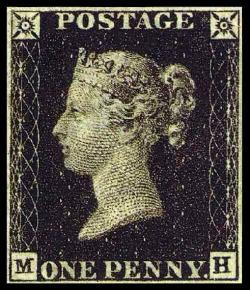 Penny Black issued (worlds 1st stamp)